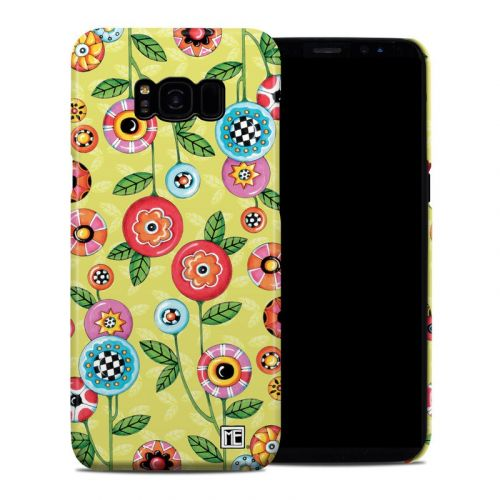 Button Flowers Samsung Galaxy S8 Plus Clip Case