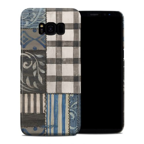 Country Chic Blue Galaxy S8 Plus Clip Case