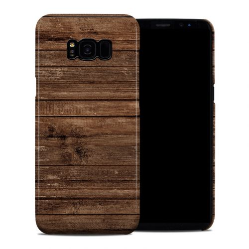 Stripped Wood Galaxy S8 Plus Clip Case