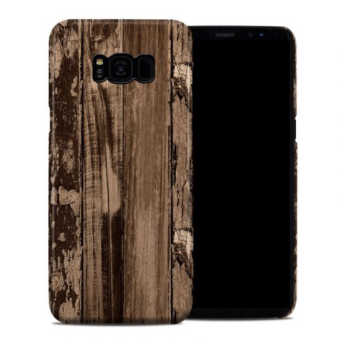 Weathered Wood Galaxy S8 Plus Clip Case