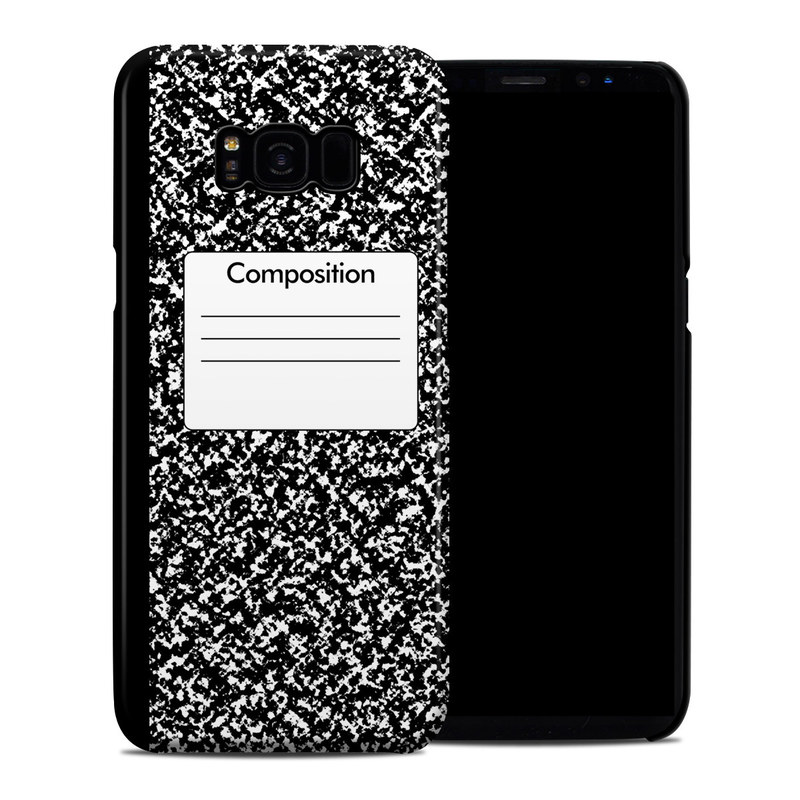 Samsung Galaxy S8 Plus Clip Case design of Text, Font, Line, Pattern, Black-and-white, Illustration with black, gray, white colors