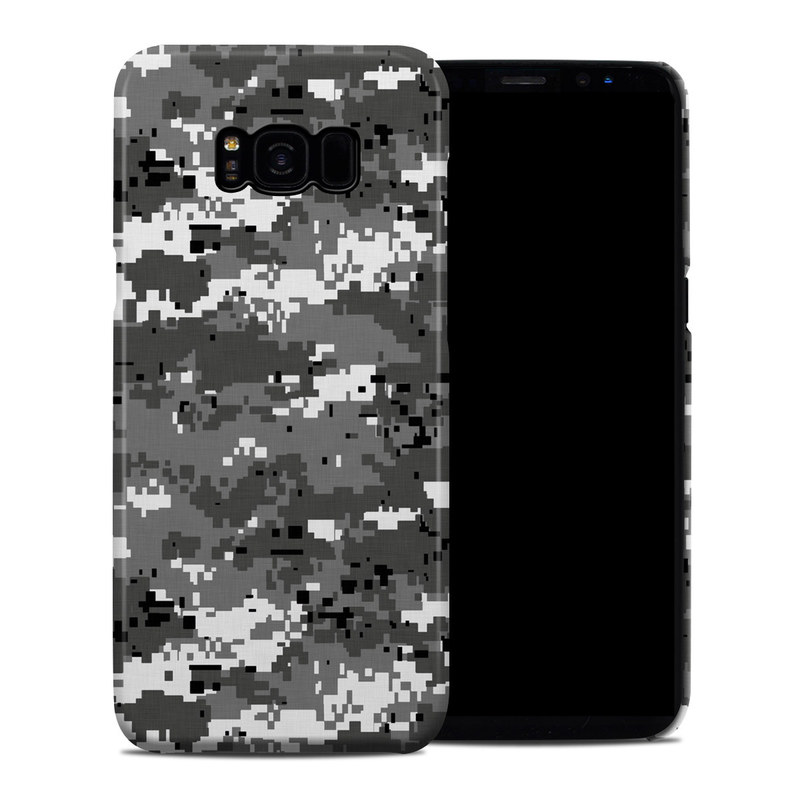 Samsung Galaxy S8 Plus Clip Case design of Military camouflage, Pattern, Camouflage, Design, Uniform, Metal, Black-and-white with black, gray colors