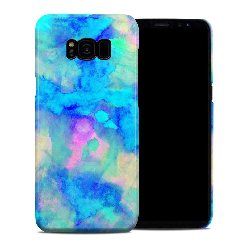 Samsung Galaxy S8 Plus Clip Case design of Blue, Turquoise, Aqua, Pattern, Dye, Design, Sky, Electric blue, Art, Watercolor paint with blue, purple colors