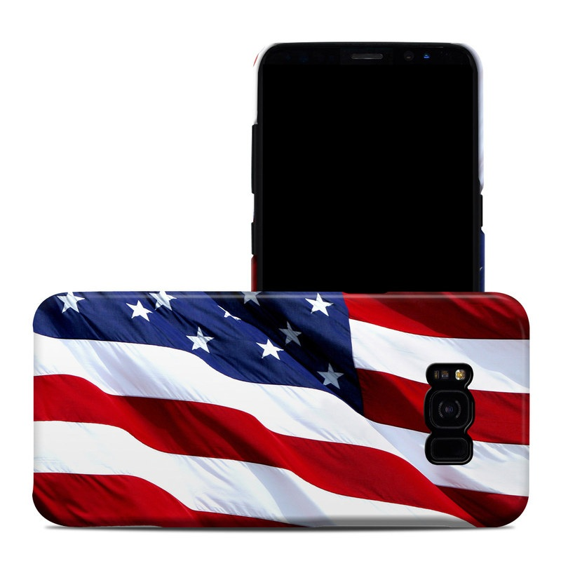 Samsung Galaxy S8 Plus Clip Case design of Flag, Flag of the united states, Flag Day (USA), Veterans day, Memorial day, Holiday, Independence day, Event with red, blue, white colors