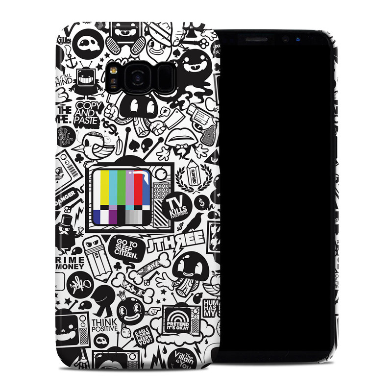 Samsung Galaxy S8 Plus Clip Case design of Pattern, Drawing, Doodle, Design, Visual arts, Font, Black-and-white, Monochrome, Illustration, Art with gray, black, white colors