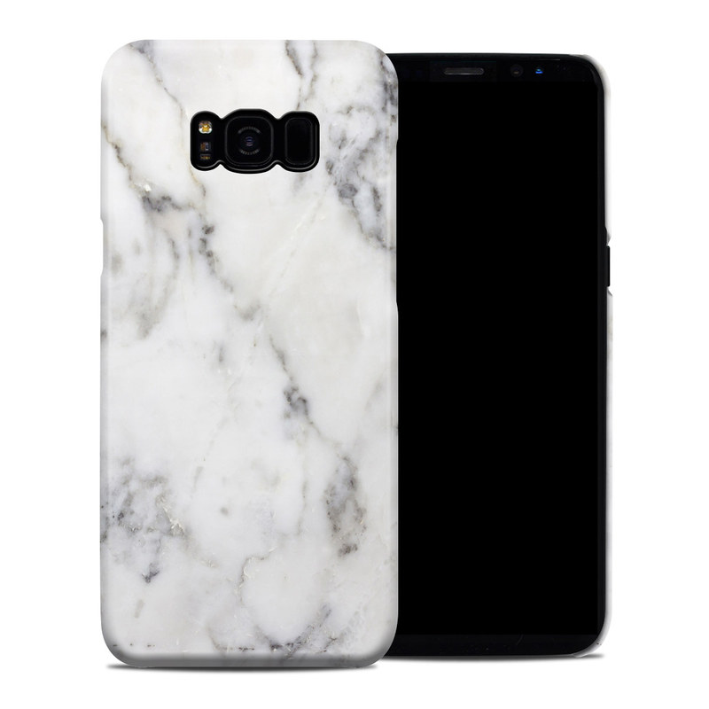 Samsung Galaxy S8 Plus Clip Case design of White, Geological phenomenon, Marble, Black-and-white, Freezing with white, black, gray colors