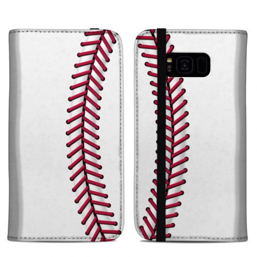 Baseball Samsung Galaxy S8 Plus Folio Case