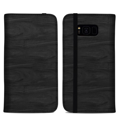 Black Woodgrain Samsung Galaxy S8 Plus Folio Case