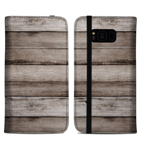Barn Wood Samsung Galaxy S8 Plus Folio Case