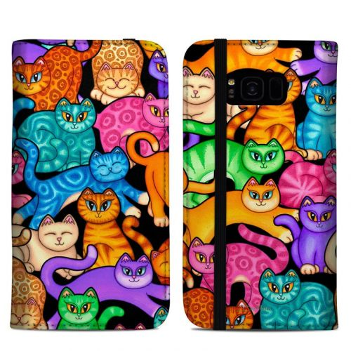 Colorful Kittens Samsung Galaxy S8 Plus Folio Case