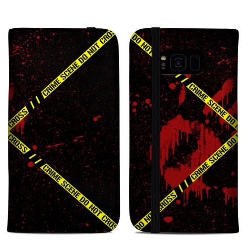 Crime Scene Samsung Galaxy S8 Plus Folio Case