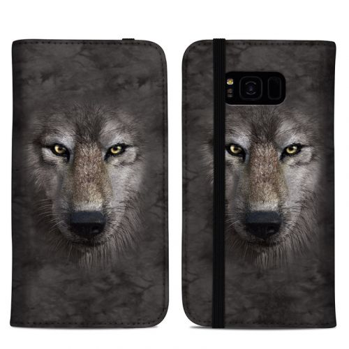 Grey Wolf Samsung Galaxy S8 Plus Folio Case