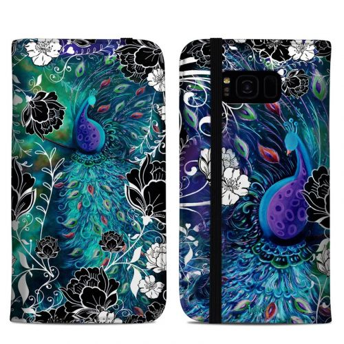 Peacock Garden Samsung Galaxy S8 Plus Folio Case