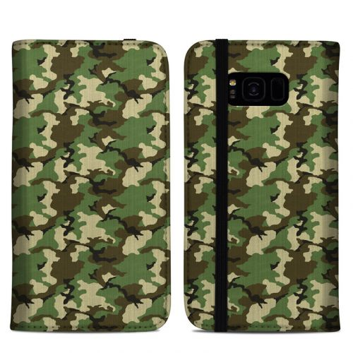 Woodland Camo Samsung Galaxy S8 Plus Folio Case