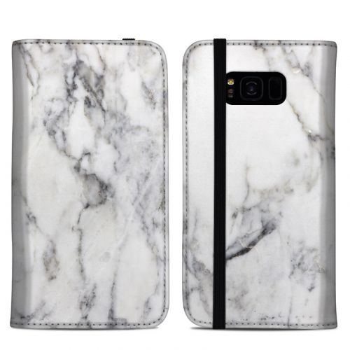 White Marble Samsung Galaxy S8 Plus Folio Case