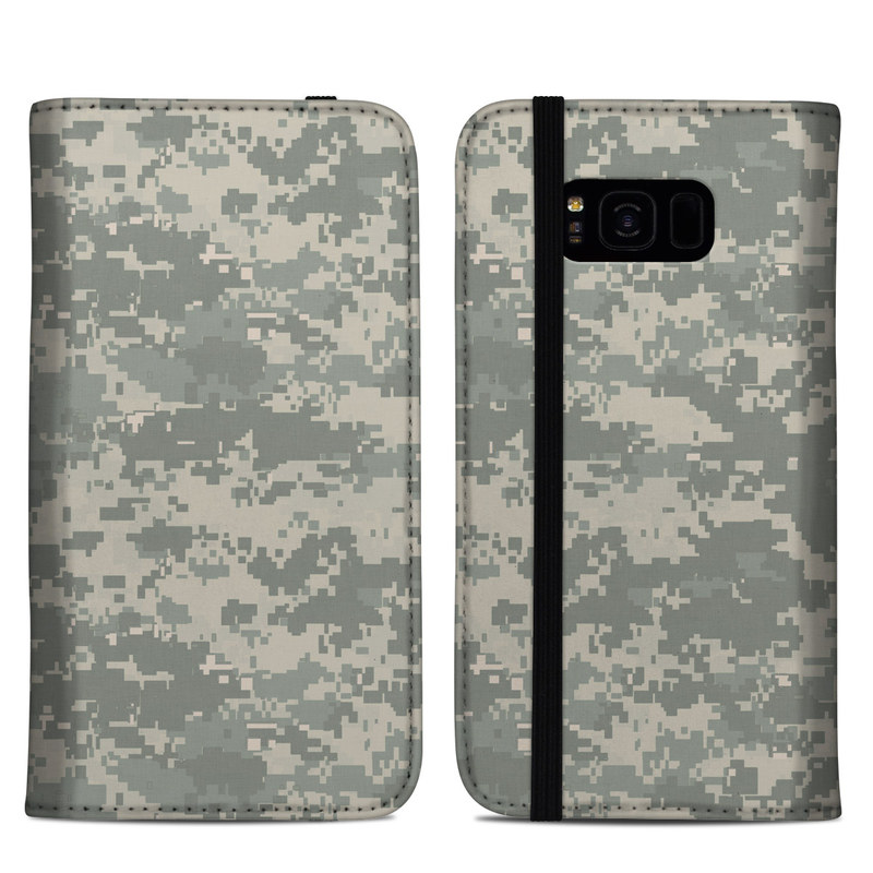 Samsung Galaxy S8 Plus Folio Case design of Military camouflage, Green, Pattern, Uniform, Camouflage, Design, Wallpaper with gray, green colors