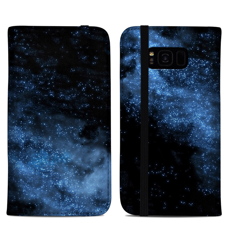 Samsung Galaxy S8 Plus Folio Case design of Sky, Atmosphere, Black, Blue, Outer space, Atmospheric phenomenon, Astronomical object, Darkness, Universe, Space with black, blue colors