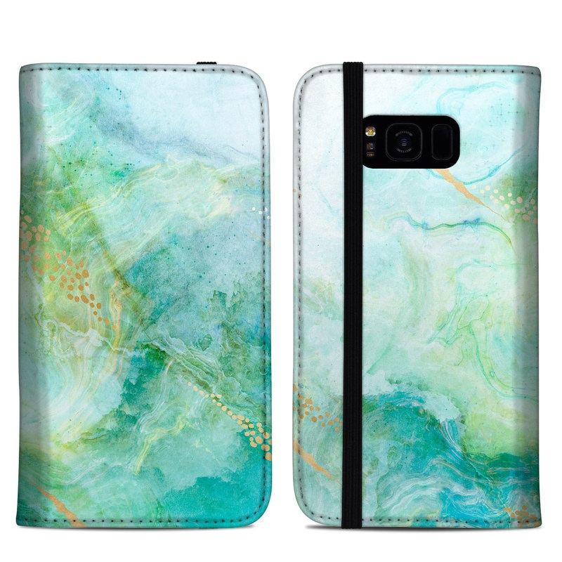Winter Marble Samsung Galaxy S8 Plus Folio Case