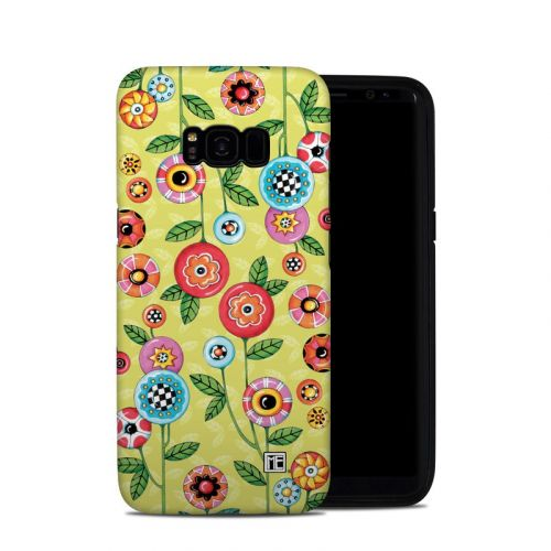 Button Flowers Samsung Galaxy S8 Plus Hybrid Case
