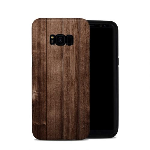 Stained Wood Galaxy S8 Plus Hybrid Case