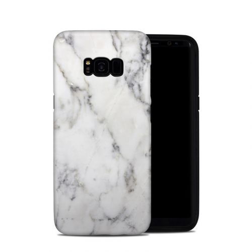 White Marble Galaxy S8 Plus Hybrid Case