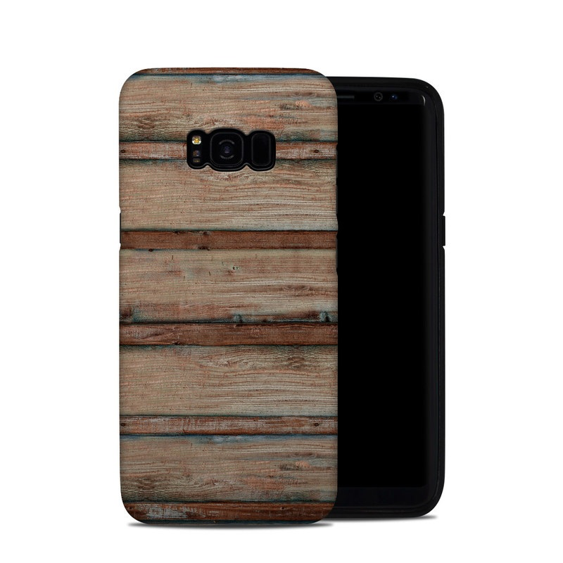 Samsung Galaxy S8 Plus Hybrid Case design of Wood, Wood stain, Plank, Lumber, Hardwood, Plywood, Pattern, Siding with brown colors