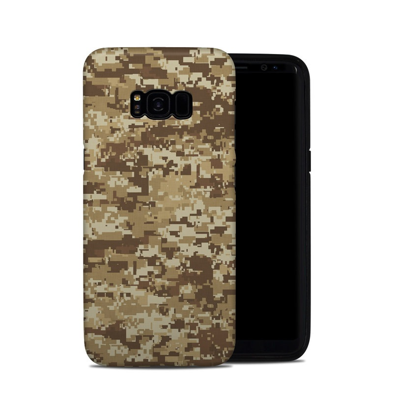 Samsung Galaxy S8 Plus Hybrid Case design of Military camouflage, Brown, Pattern, Camouflage, Wall, Beige, Design, Textile, Uniform, Flooring with brown colors