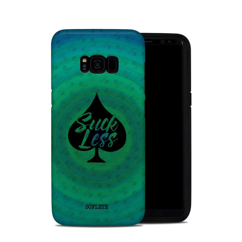 Samsung Galaxy S8 Plus Hybrid Case design of Calligraphy, Turquoise, Aqua, Water, Font, Logo, Art, Graphics, Artwork, Electric blue with black, green, blue colors