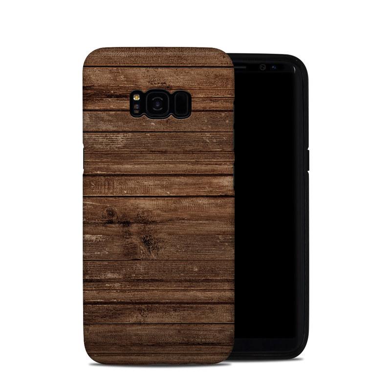 Samsung Galaxy S8 Plus Hybrid Case design of Wood, Brown, Wood stain, Plank, Hardwood, Wood flooring, Line, Pattern, Floor, Flooring with brown colors