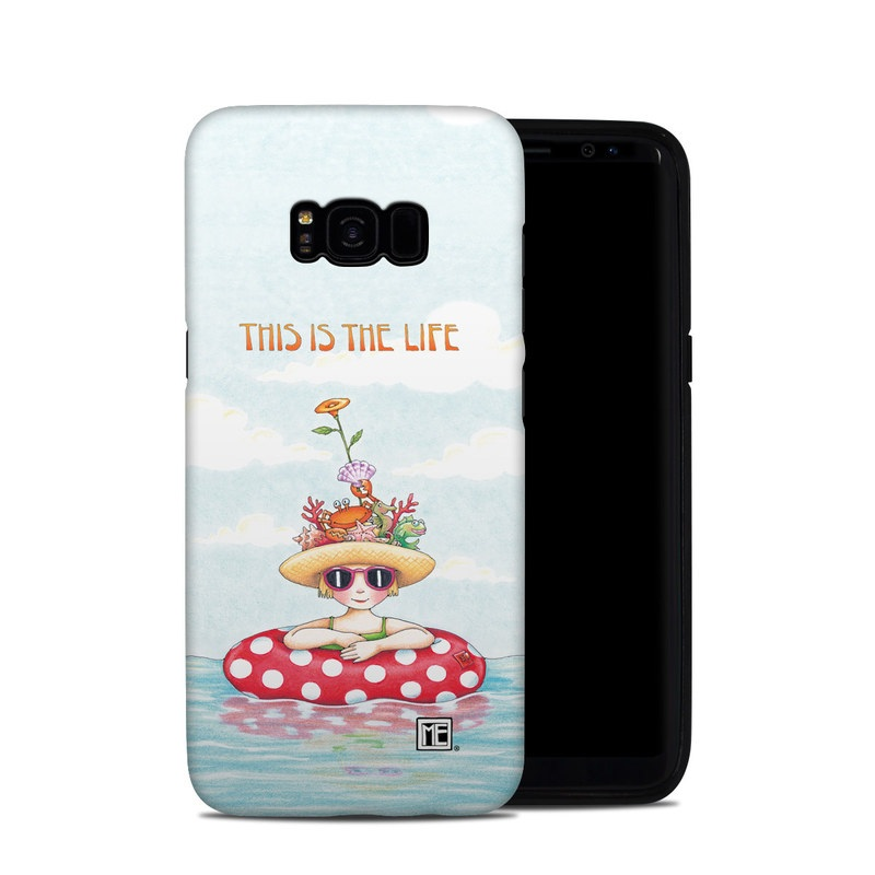 Samsung Galaxy S8 Plus Hybrid Case design of Cartoon, Illustration, Clip art with blue, red, white, yellow, green, orange, pink colors
