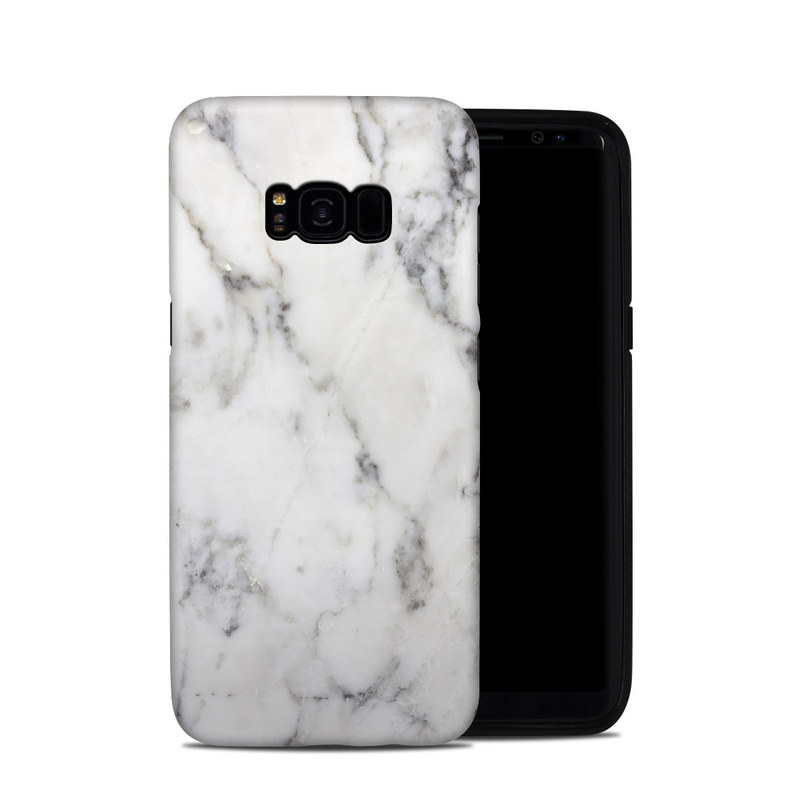 White Marble Samsung Galaxy S8 Plus Hybrid Case