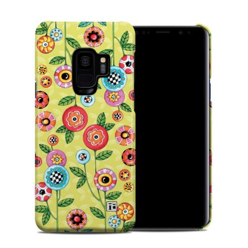 Button Flowers Samsung Galaxy S9 Clip Case