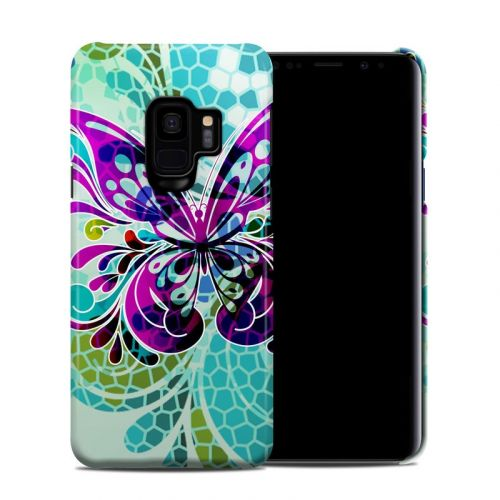 Butterfly Glass Samsung Galaxy S9 Clip Case