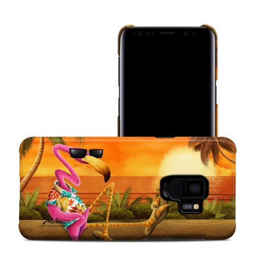 Sunset Flamingo Samsung Galaxy S9 Clip Case
