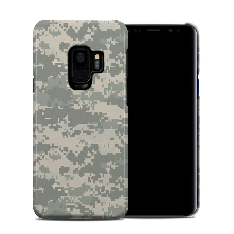 Samsung Galaxy S9 Clip Case design of Military camouflage, Green, Pattern, Uniform, Camouflage, Design, Wallpaper with gray, green colors