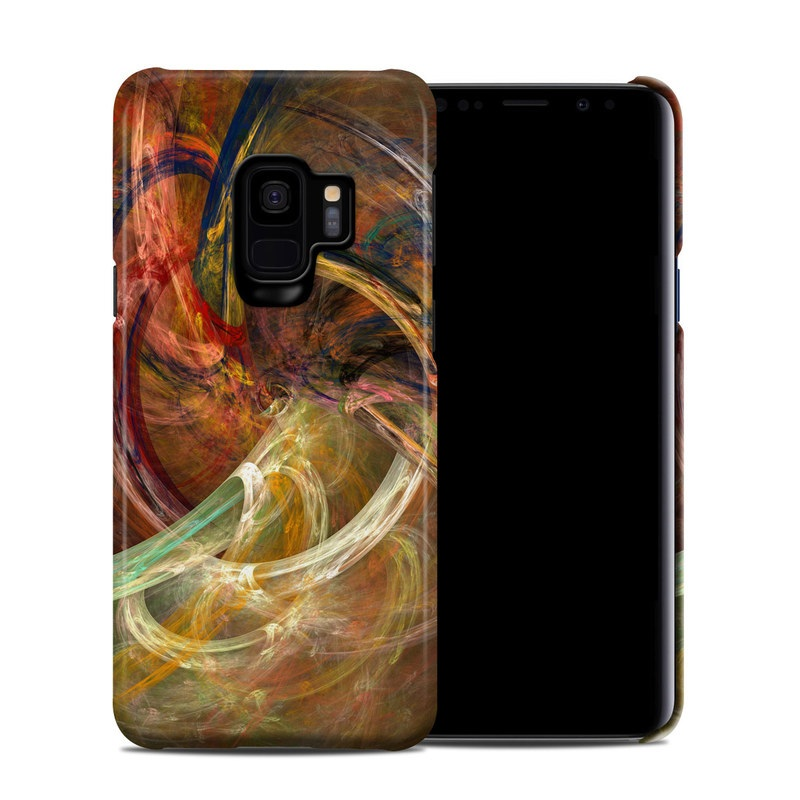 Samsung Galaxy S9 Clip Case design of Fractal art, Art, Painting, Visual arts, Modern art, Graphics, Artwork, Stock photography, Circle, Space with brown, red, yellow, orange, green colors
