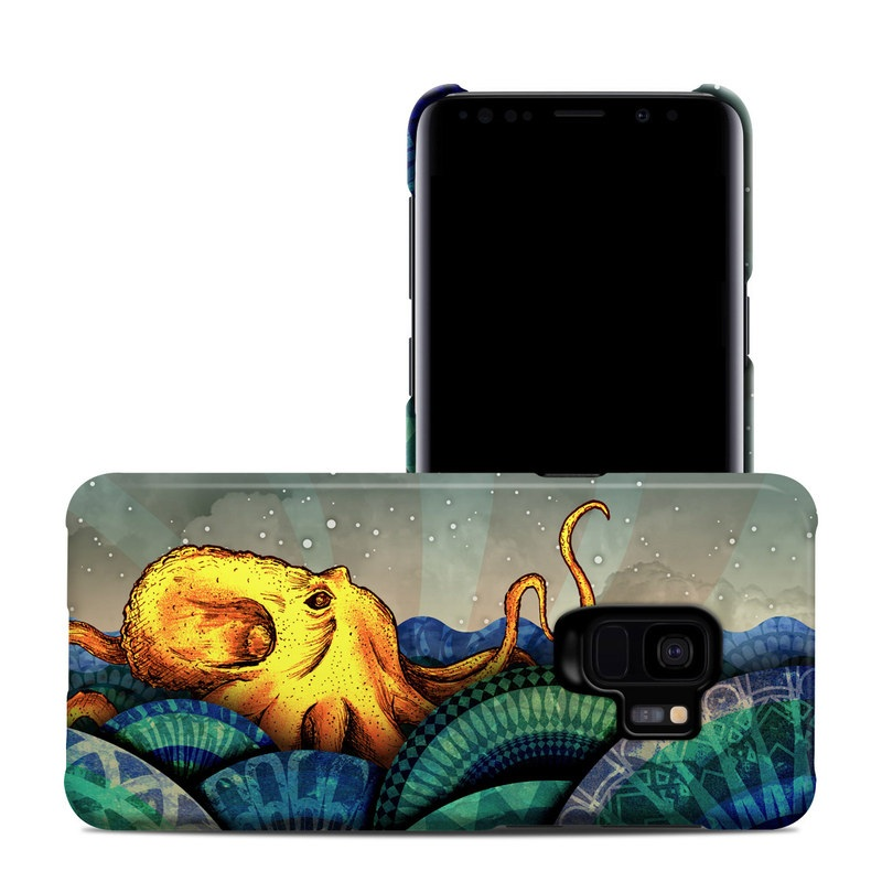 Samsung Galaxy S9 Clip Case design of Illustration, Fractal art, Art, Cg artwork, Sky, Organism, Psychedelic art, Graphic design, Graphics, Octopus with black, gray, blue, green, red colors