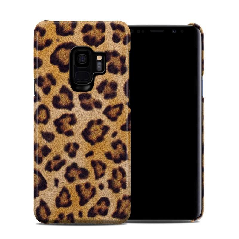 Samsung Galaxy S9 Clip Case design of Pattern, Felidae, Fur, Brown, Design, Terrestrial animal, Close-up, Big cats, African leopard, Organism with orange, black colors