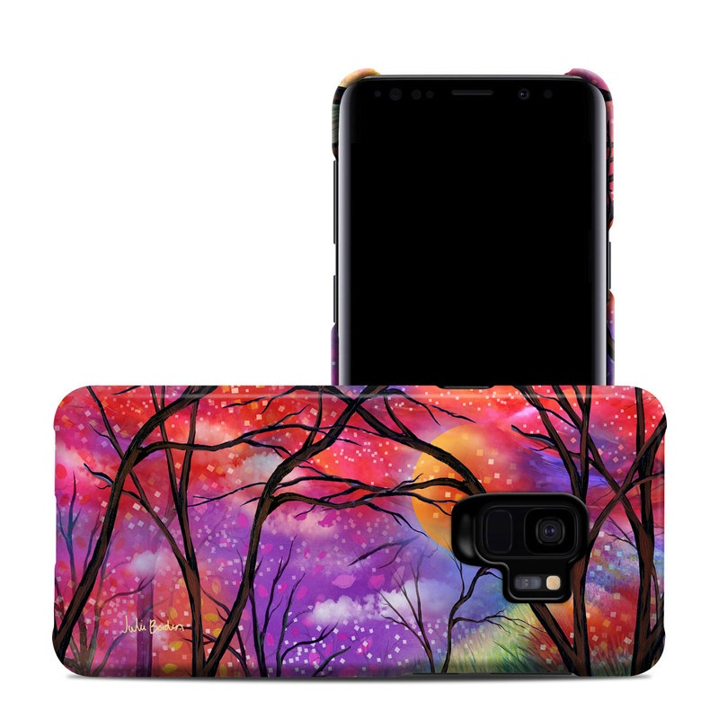 Samsung Galaxy S9 Clip Case design of Nature, Tree, Natural landscape, Painting, Watercolor paint, Branch, Acrylic paint, Purple, Modern art, Leaf with red, purple, black, gray, green, blue colors