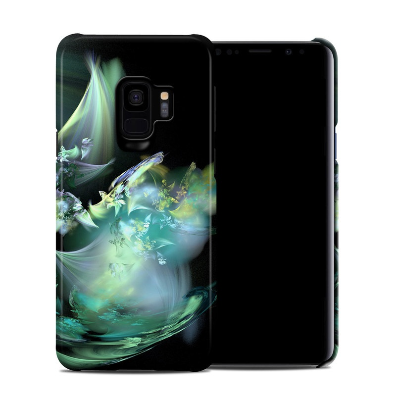 Samsung Galaxy S9 Clip Case design of Fractal art, Cg artwork, Fictional character, Organism, Graphic design, Graphics, Art, Photography, Mythical creature, Dragon with black, blue, gray, green colors