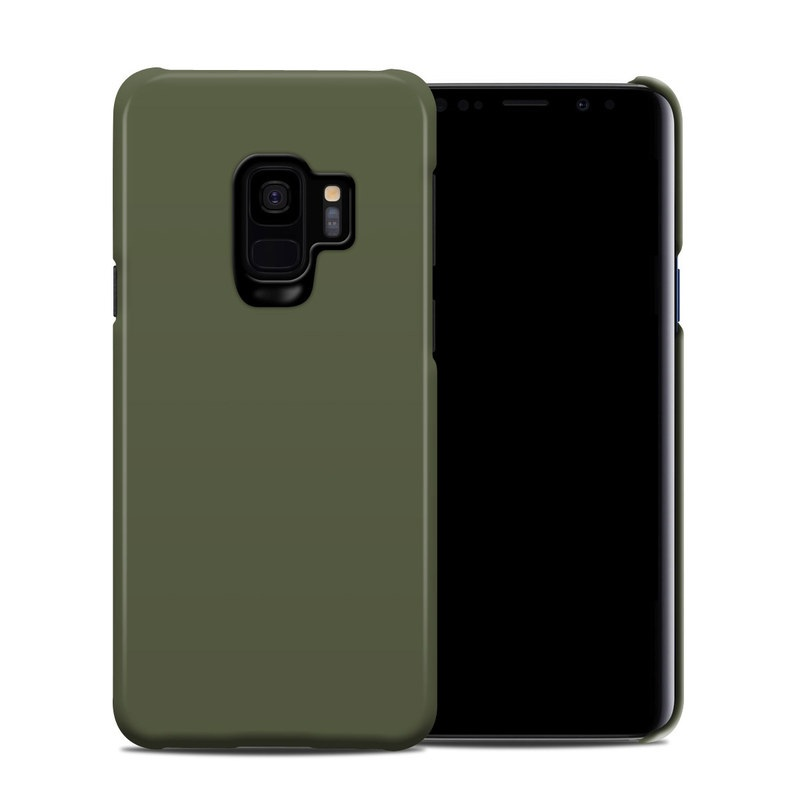 Samsung Galaxy S9 Clip Case design of Green, Brown, Text, Yellow, Grass, Font, Pattern, Beige with green colors