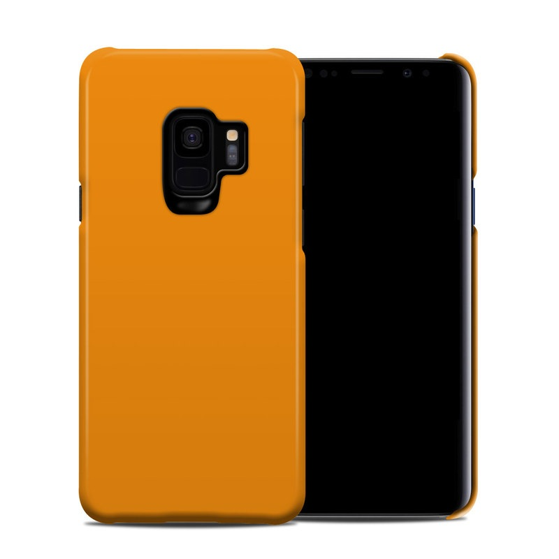 Samsung Galaxy S9 Clip Case design of Orange, Yellow, Brown, Text, Amber, Font, Peach with orange colors