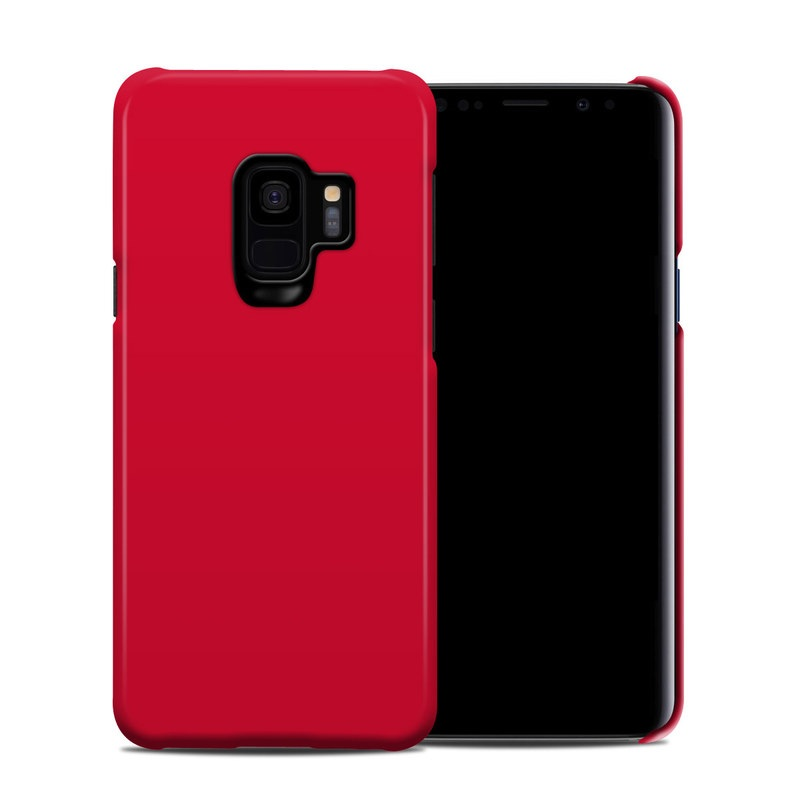 Samsung Galaxy S9 Clip Case design of Red, Pink, Maroon, Purple, Orange, Violet, Magenta, Material property, Font, Peach with red colors