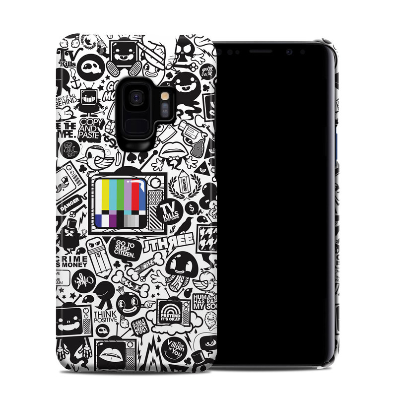 Samsung Galaxy S9 Clip Case design of Pattern, Drawing, Doodle, Design, Visual arts, Font, Black-and-white, Monochrome, Illustration, Art with gray, black, white colors