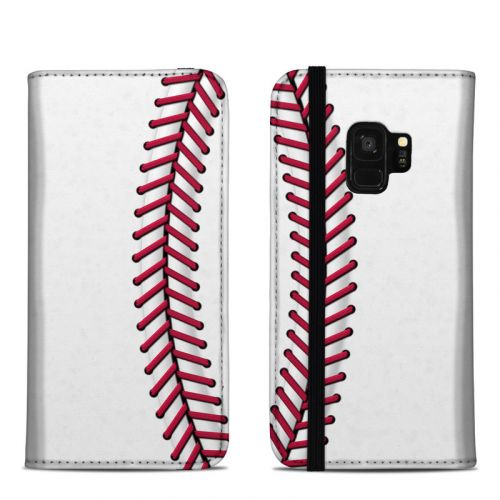 Baseball Samsung Galaxy S9 Folio Case