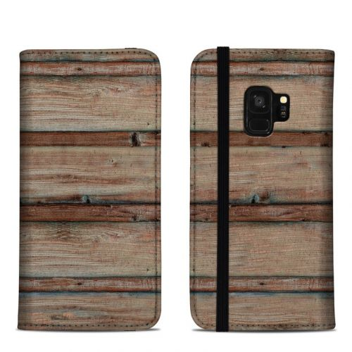 Boardwalk Wood Samsung Galaxy S9 Folio Case