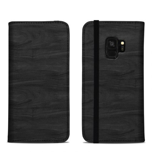 Black Woodgrain Samsung Galaxy S9 Folio Case