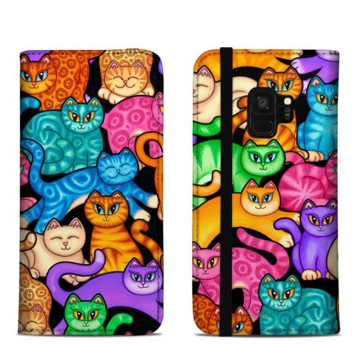 Colorful Kittens Samsung Galaxy S9 Folio Case