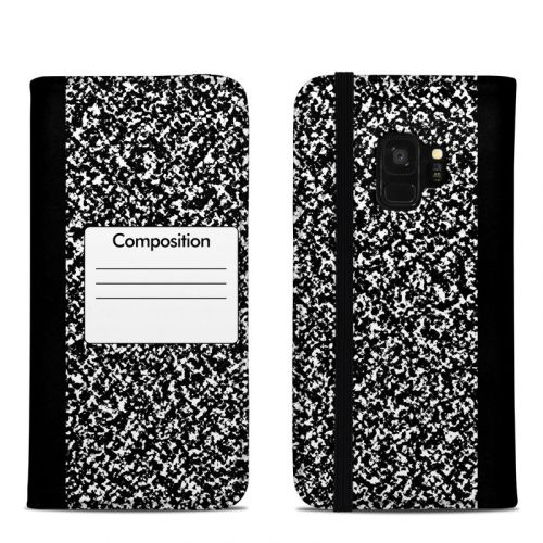 Composition Notebook Samsung Galaxy S9 Folio Case