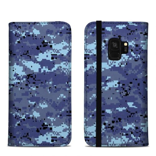 Digital Sky Camo Samsung Galaxy S9 Folio Case